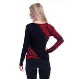 Tie Sally Gothic Top Ladies Black/Red