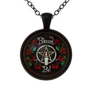 Blessed Be Pentagram Necklace Front