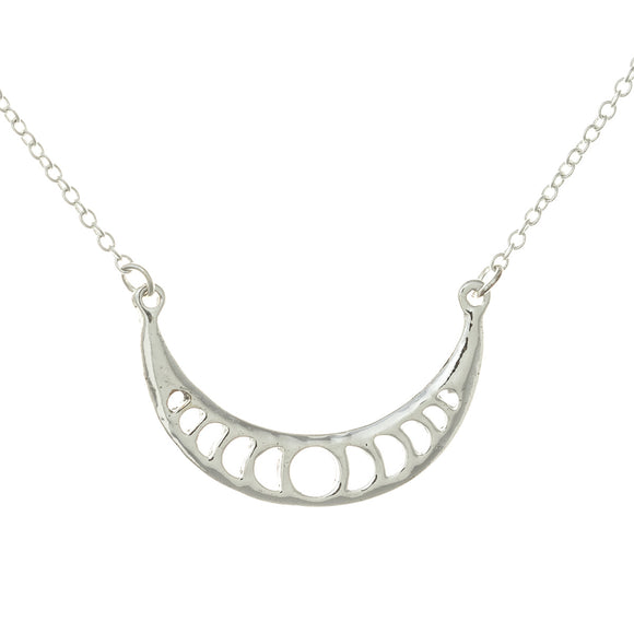 Lunar Cycle Moon Phases Necklace