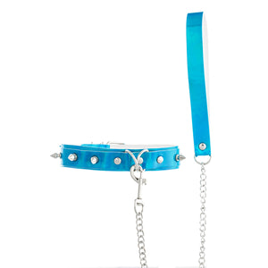 Collar Choker Spikes With Harness  Bondage
