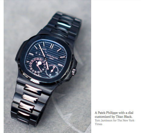 Patek Philippe designed and customized by titan black tblack