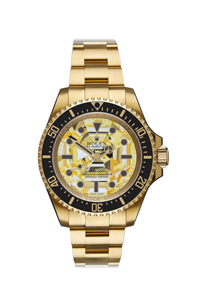 Deep Sea Gold Dweller Yellow Sapphire Titan Black USA
