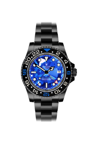 Rolex GMT II: Blue Diamond Titan Black USA