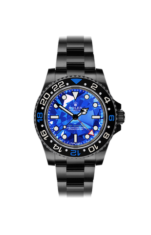 Rolex GMT II: Blue Diamond No Date Titan Black USA