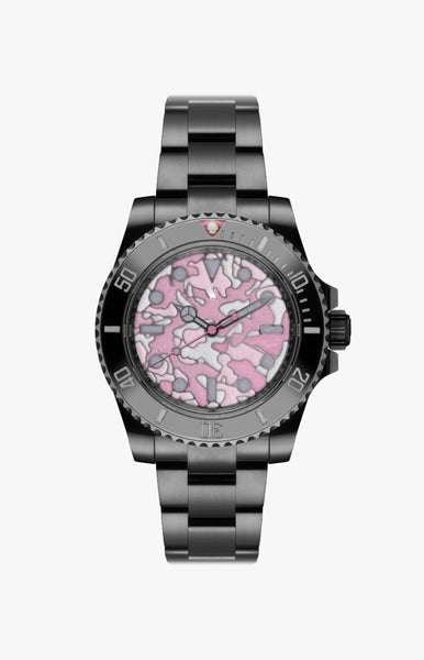 Rolex Submariner Pink Camo Ultraglow DLC Titan Black USA