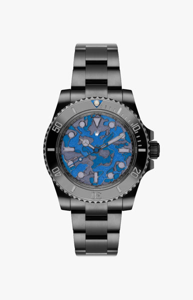 Rolex Submariner Blue Camo Ultraglow DLC Titan Black USA