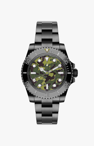 Rolex Submariner Green Camo Ultraglow DLC Titan Black USA