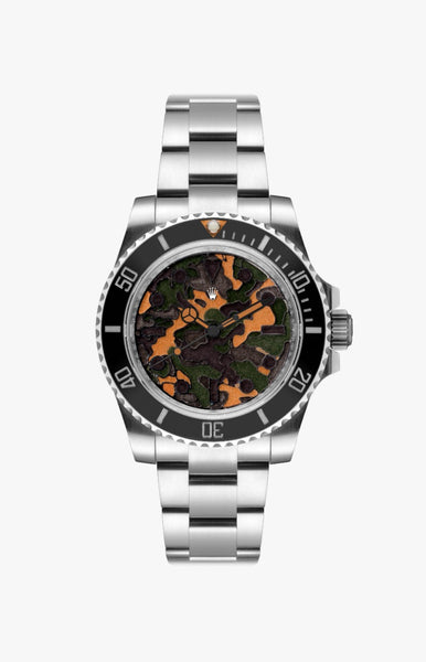 Rolex Submariner Valentino Ultraglow Steel Titan Black USA