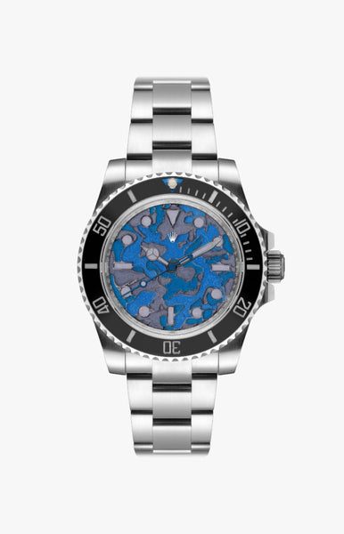 Rolex Submariner Blue Camo Ultraglow Steel Titan Black USA