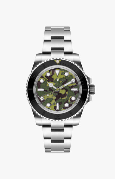 Rolex Submariner Green Camo Ultraglow Steel Titan Black USA