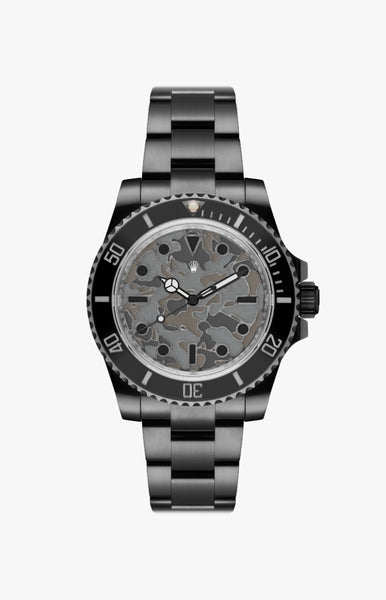 Rolex Submariner Camo Ultraglow DLC Titan Black USA