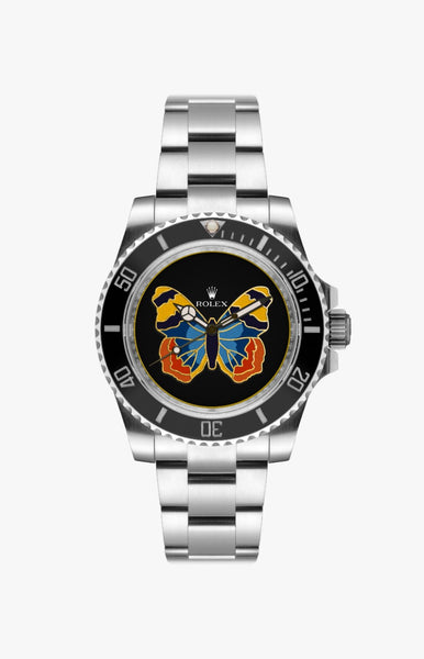 Rolex Submariner Paradise Butterfly Ultraglow Steel Titan Black USA