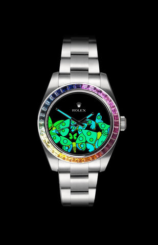 Rolex Milgauss: Butterflies Diamond UltraGlow Steel Titan Black USA
