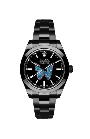 Rolex Milgauss: Butterfly by Ashley Longshore Titan Black USA