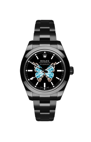 Rolex Milgauss: Diamond Butterfly Titan Black USA