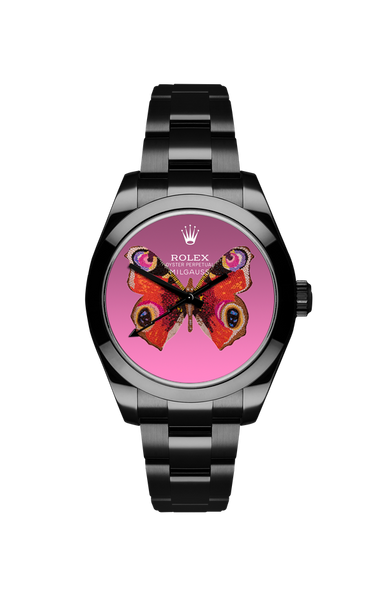 Rolex Milgauss: Red Butterfly Titan Black USA