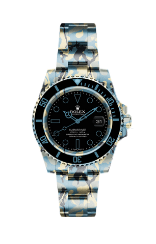 Rolex Submariner Date: Teal Camo v2 Titan Black USA