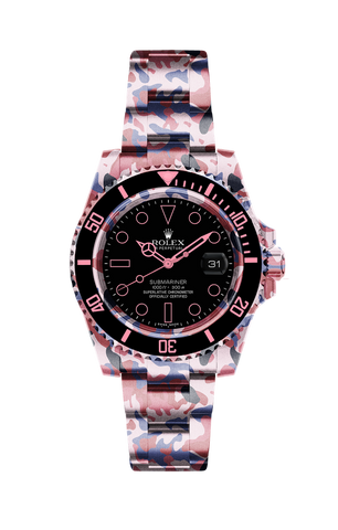 Rolex Submariner Date: Pink Camo Titan Black USA