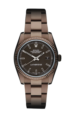 Lathbridge Rolex Datejust II by Patrick Cox Ladies Titan Black USA