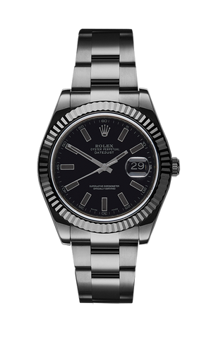 ROLEX DATEJUST II SHADOW 116334 Titan Black USA