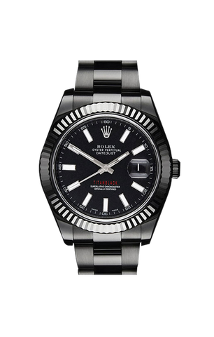 Rolex Datejust II: White Battern 116334 Titan Black USA