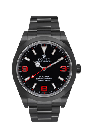 Rolex Explorer I Crush Titan Black USA
