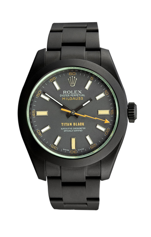 Rolex Milgauss: Bolt Titan Black USA