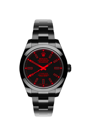 Rolex Milgauss: Red Knight Titan Black USA