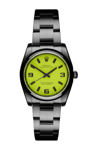 The Beach Collection - Neon Yellow Rolex Oyster Perpetual 116000 Titan Black USA