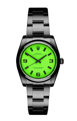 The Beach Collection - Rolex Oyster Perpetual Neon Green 116000 Titan Black USA