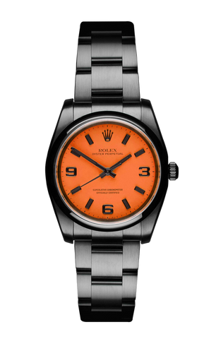 The Beach Collection - Rolex Oyster Perpetual Neon Orange 116000 Titan Black USA