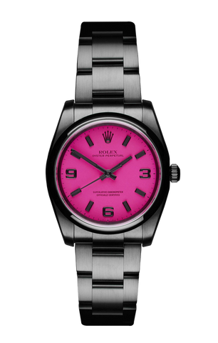 The Beach Collection - Rolex Oyster Perpetual Neon Pink 116000 Titan Black USA