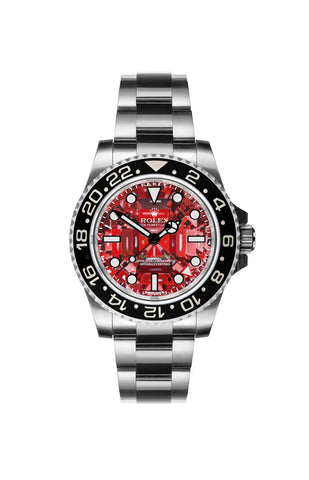 Rolex GMT II: Ruby by Ashley Longshore Titan Black USA