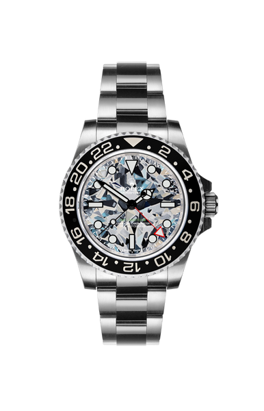 Rolex GMT II: Diamond II by Ashley Longshore Titan Black USA