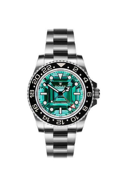 Rolex GMT II: Emerald by Ashley Longshore Titan Black USA