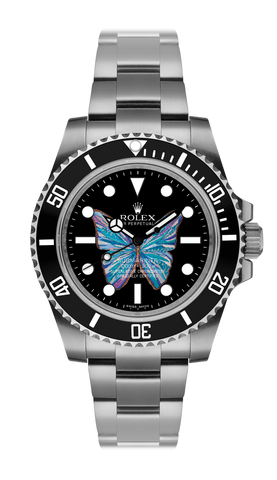 Rolex Submariner Butterfly Steel Titan Black USA
