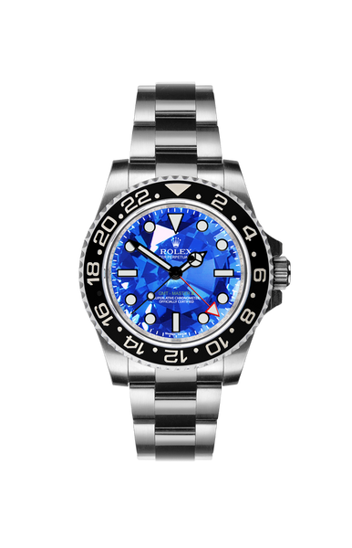Rolex GMT II: Sapphire by Ashley Longshore Titan Black USA