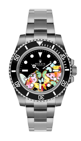 Rolex Submariner Butterflies Steel Titan Black USA