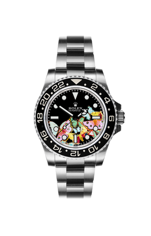 Rolex GMT II: Butterflies by Ashley Longshore Titan Black USA