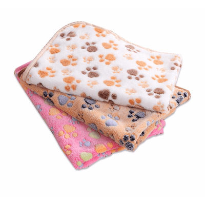 Soft Paw Print Cat / Dog Fleece Blankets-Houses, Kennels & Pens-FreakyPet