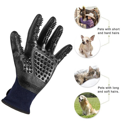 Pet Shedding Grooming Gloves For Cats & Dogs-Dog Combs-FreakyPet