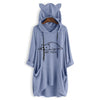 NOT TODAY Oversize Hoodie With Cat Ears