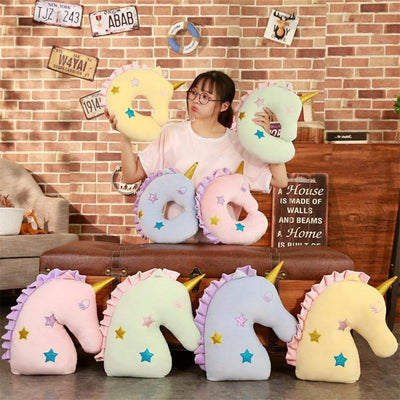 Unicorn Star Travel Pillow