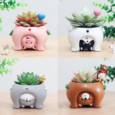 Cute Upside Down Animal Flower Pots