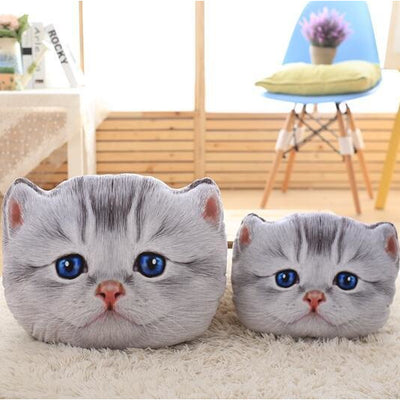 Cute 3D Cat Plush Cushion Pillow