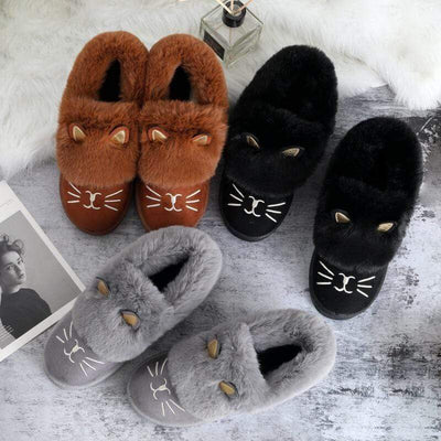 Cute Cat Ankle Snowboots-FreakyPet