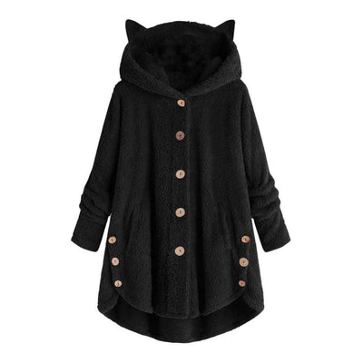 Warm Winter Fleece Fur Coats With Cat Ears-Home-FreakyPet