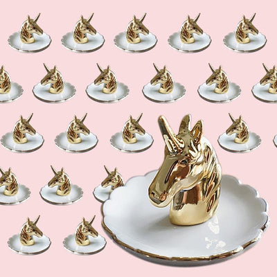 Unicorn Jewelry Rack Ceramic Plate
