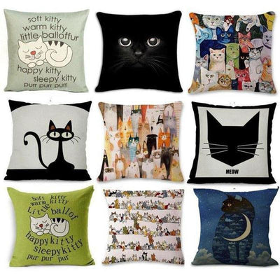 Cute Cat Pillow Cases 2019 Edition-Cushion Cover-FreakyPet