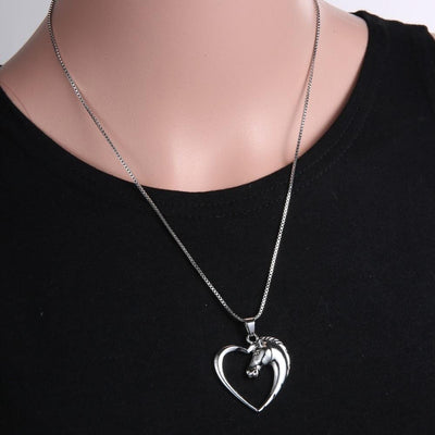 Love Heart Horse Necklace